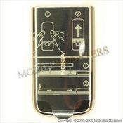 Korpuss Nokia 6700c Classic Baterijas vāciņš Sudrabs