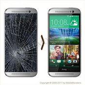 HTC One M8 Displeja un stikla maiņa