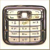 Tastatūra Nokia N73  Sudraba