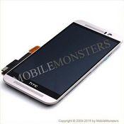 Displejs HTC One M9 ar Skārienjūtīgo stiklu un apkart ramiti Sudrabs