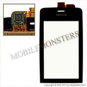 Skārienjūtīgais ekrāns Nokia 308 Asha Melns