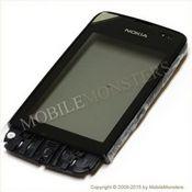 Skārienjūtīgais ekrāns Nokia 311 Asha  ar ramiti Melns