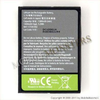 Akumulators BlackBerry 8900 1150mAh Li-Pol D-X1