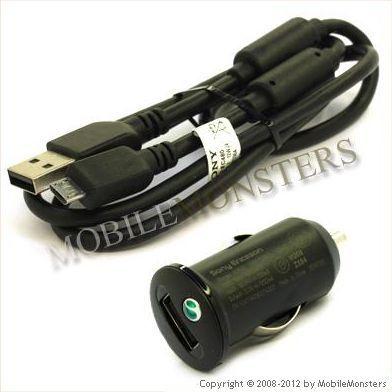 Автомобильное зарядное устройство Sony Ericsson AN400+EC700
