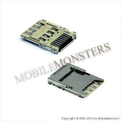 Konektors Samsung SM-G900F Galaxy S5 Sim un Memory card reader