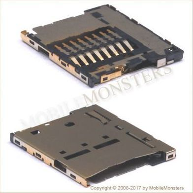 Konektors Sony E2303 Xperia M4 Aqua Memory card lasītājs