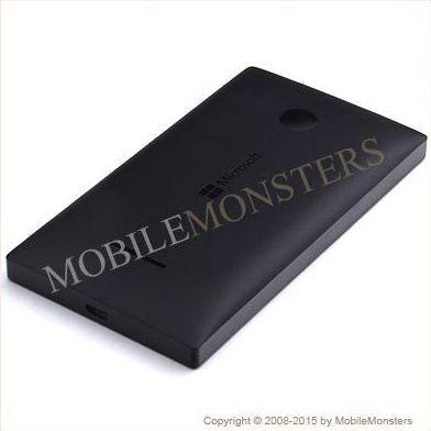 Korpuss Microsoft 435 Lumia Baterijas vāciņš Melns
