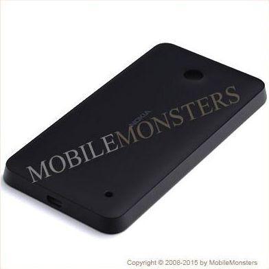 Korpuss Nokia 630 Lumia Baterijas vāciņš Melns