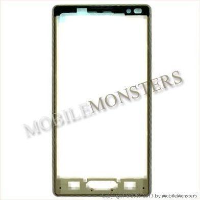 Korpuss LG P760 Optimus L9  Priekšējais panelis Melns