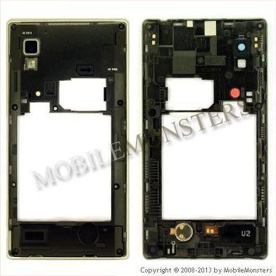 Korpuss LG P760 Optimus L9  Videja daļa Balta