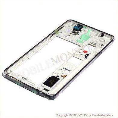 Korpuss Samsung SM-N910F Galaxy Note 4 Videja daļa Melnā