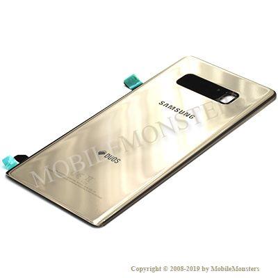 Korpuss Samsung SM-N950F Galaxy Note 8 Baterijas vāciņš Zelts