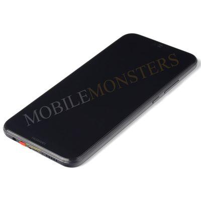Displejs Huawei P20 Lite (ANE-LX1) ar Skārienjūtīgo stiklu un apkart ramiti, ar akumulatoru Melns