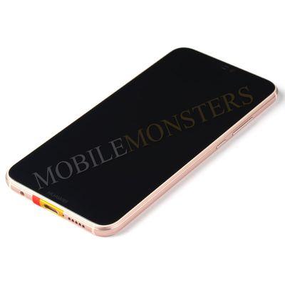 Дисплей Huawei P20 Lite (ANE-LX1) с Тачскрином, стеклом и рамкой, с аккумулятором Розовый