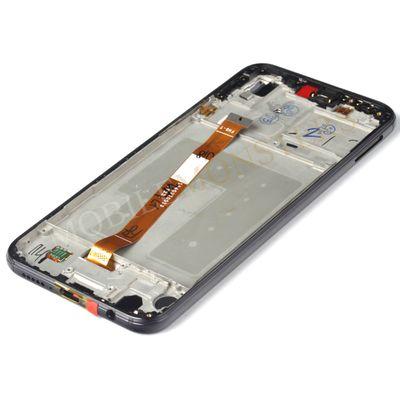 Displejs Huawei P20 Lite (ANE-LX1) ar Skārienjūtīgo stiklu un apkart ramiti Melns