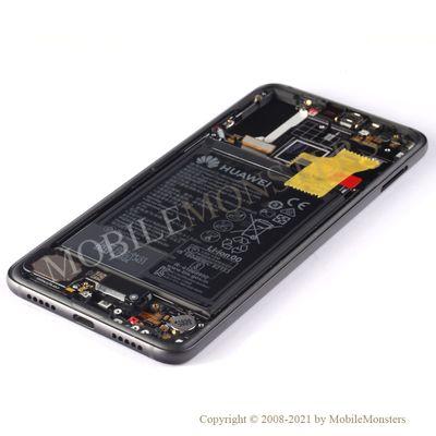 Displejs Huawei P20 Pro (CLT-L29) ar Skārienjūtīgo stiklu un apkart ramiti Melns