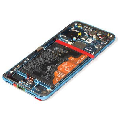 Displejs Huawei P40 ar Skārienjūtīgo stiklu un apkart ramiti, ar akumulatoru Zils