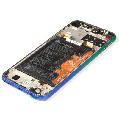 Displejs Huawei P40 Lite (JNY-LX1) ar Skārienjūtīgo stiklu un apkart ramiti, ar akumulatoru Zils