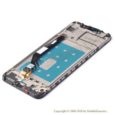 Displejs Huawei Y7 (2019) ar Skārienjūtīgo stiklu un apkart ramiti Zils