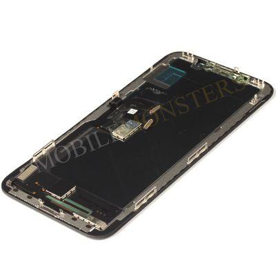 Displejs iPhone X Kopija HQ, ar Skārienjūtīgo stiklu un apkart ramiti Melns