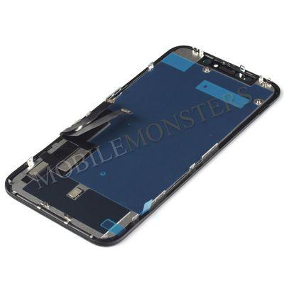 Displejs iPhone XR Kopija HQ, ar Skārienjūtīgo stiklu un apkart ramiti Melns
