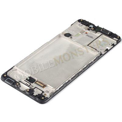 Displejs Samsung SM-A315F Galaxy A31 ar Skārienjūtīgo stiklu un apkart ramiti Melns