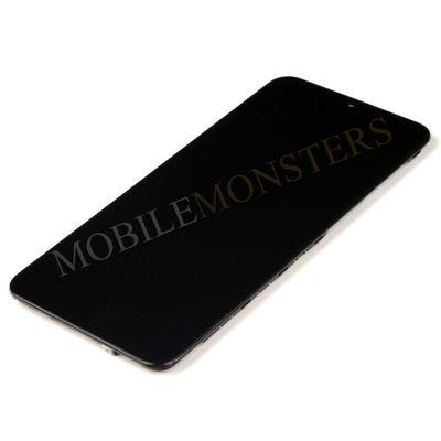 Displejs Samsung SM-A505F Galaxy A50 ar Skārienjūtīgo stiklu un apkart ramiti *Atjaunots* Melns