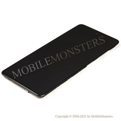 Displejs Samsung SM-A515F Galaxy A51 ar Skārienjūtīgo stiklu un apkart ramiti *Atjaunots* Melns
