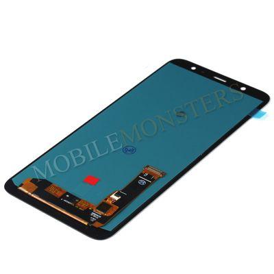 Displejs Samsung SM-A605 Galaxy A6+ (2018) ar Skārienjūtīgo stiklu, Kopija OLED kvalitāte Melnā