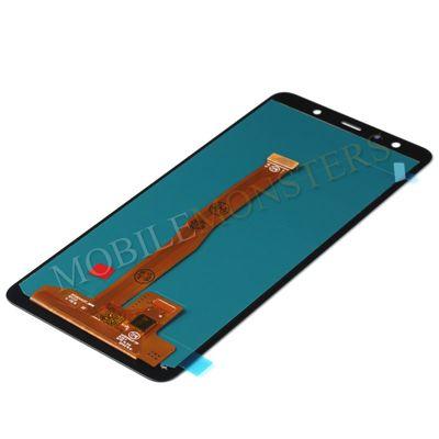 Displejs Samsung SM-A750F Galaxy A7 (2018) ar Skārienjūtīgo stiklu, Kopija OLED kvalitāte Melnā