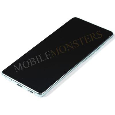 Displejs Samsung SM-G780F Galaxy S20 FE ar Skārienjūtīgo stiklu un apkart ramiti Gaiši zils