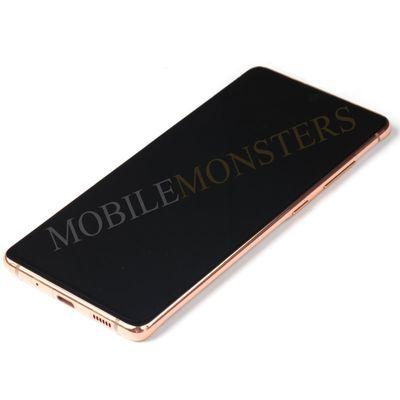 Displejs Samsung SM-G780F Galaxy S20 FE ar Skārienjūtīgo stiklu un apkart ramiti Oranžs