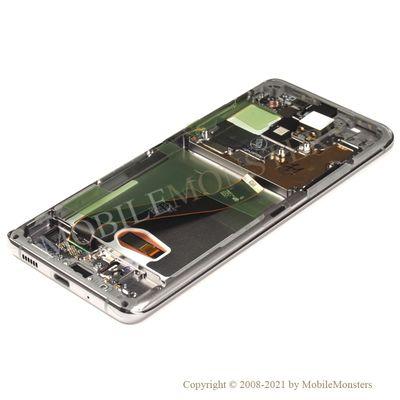 Дисплей Samsung SM-G988 Galaxy S20 Ultra 5G с Тачскрином, стеклом и рамкой Серый