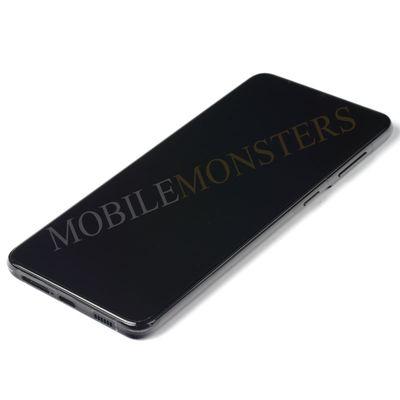 Displejs Samsung SM-G996 Galaxy S21+ ar Skārienjūtīgo stiklu un apkart ramiti, ar akumulatoru Melns