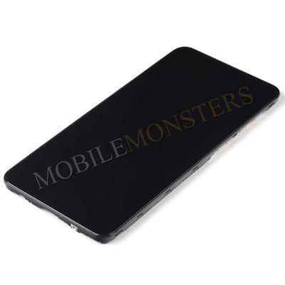 Displejs Samsung SM-M105F Galaxy M10 ar Skārienjūtīgo stiklu un apkart ramiti Melns