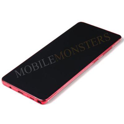 Displejs Samsung SM-N770F Galaxy Note 10 Lite ar Skārienjūtīgo stiklu un apkart ramiti Sarkans