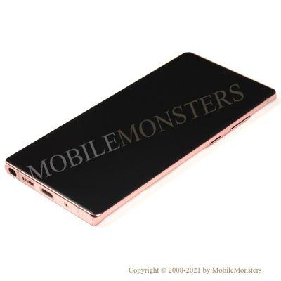 Дисплей Samsung SM-N980F Galaxy Note 20 с Тачскрином, стеклом и рамкой Коричневый