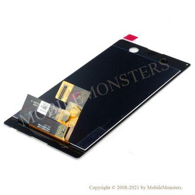Displejs Sony E5603 Xperia M5 ar Skārienjūtīgo stiklu Balts