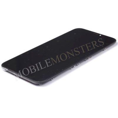 Displejs iPhone XR ar Skārienjūtīgo stiklu un apkart ramiti *Atjaunots* Melns