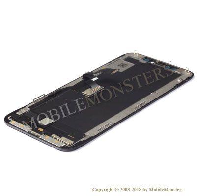 Displejs iPhone XS Kopija hOLED kvalitāte, ar Skārienjūtīgo stiklu un apkart ramiti Melns