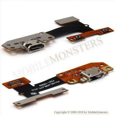 Šleife Lenovo Yoga Tab 3 10.1 (YT3-X50L) USB konnektors, sāna poga