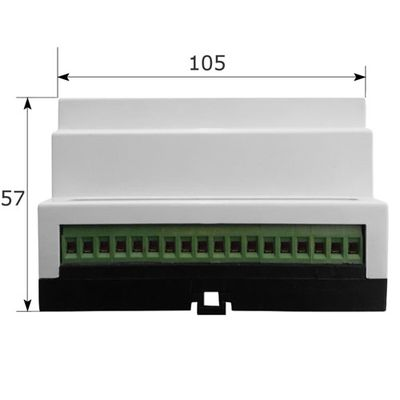 Haseman RS-10PM2 - Z-Wave, DIN Rail,  10 CHANNEL RELAY