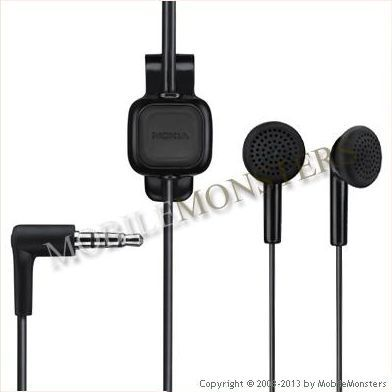 Headset Nokia WH-102 Black stereo