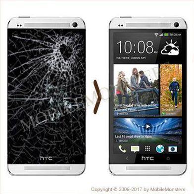 HTC One M7 Displeja un stikla maiņa