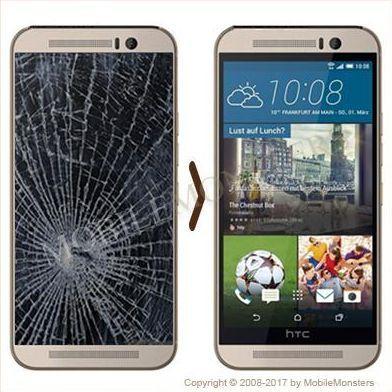 HTC One M9 Displeja un stikla maiņa
