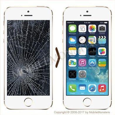 iPhone 5s (A1457) Displeja un stikla maiņa