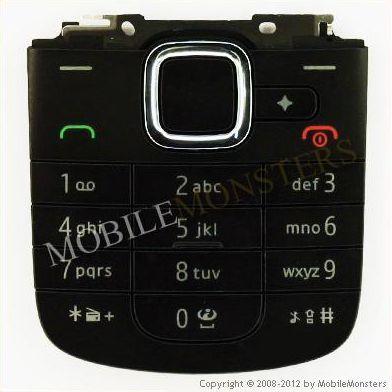 Tastatūra Nokia 2710n Navigation Edition  Melnā
