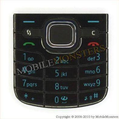 Tastatūra Nokia 6220c Classic  Melnā