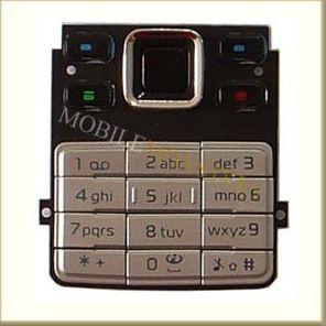 Tastatūra Nokia 6300  Sudraba