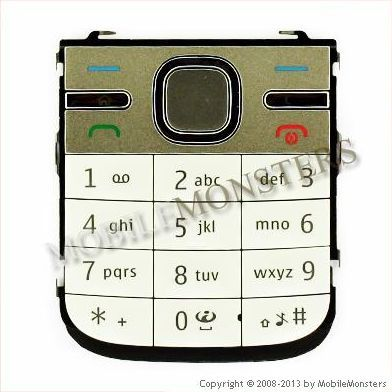 Tastatūra Nokia C5  Balta